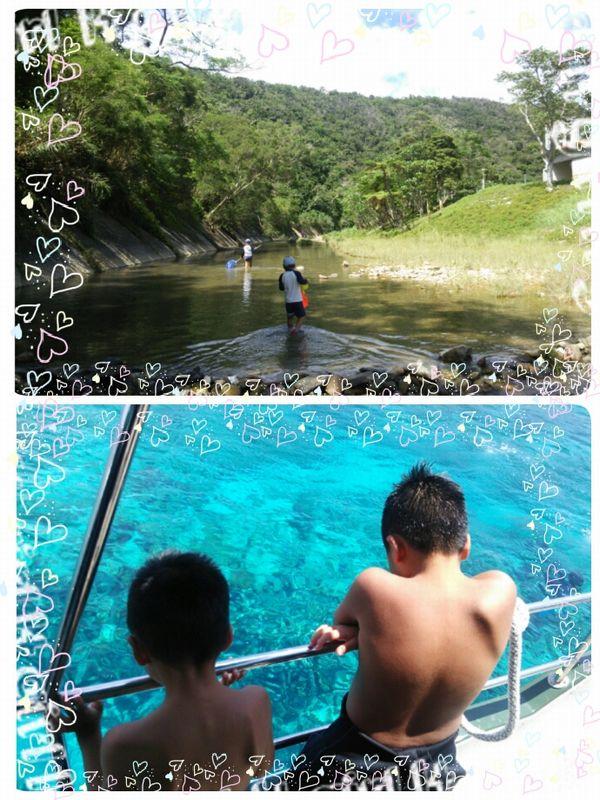 沖縄の川と海